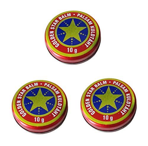 3x (3Stück) 10g Balsam Golden Stern Balm бальзам Звездочка Золотая звезда