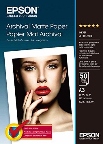 Epson C13S041344 Matte archival papier inkjet 189g/m2 A3 50 Blatt Pack