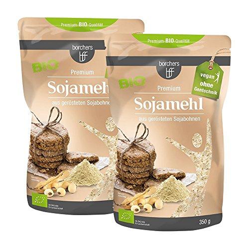2 x borchers Harina de soja premium ecológica, vegetariana