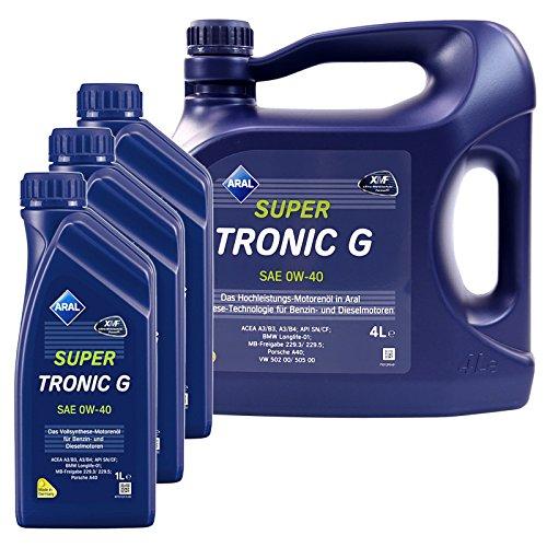 3x 1 L + 4 L = 7 Liter Aral SuperTronic G 0W-40 Motor-Öl Motoren-Öl