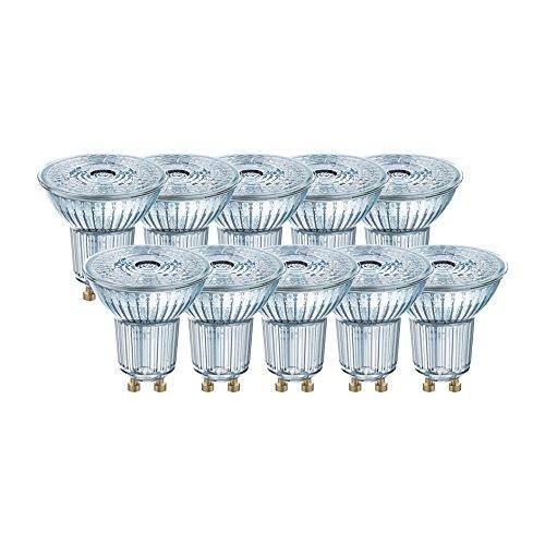 Osram LED Base PAR16 Reflektorlampe, mit GU10-Sockel, nicht dimmbar, Ersetzt 50 Watt, 36° Ausstrahlungswinkel, Kaltweiß - Kelvin, 10er-Pack