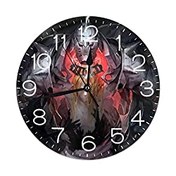 FUFASHION Personalized Printed Home Decoration Wall Clock Can Be Wall-Mounted Or Placed On The Desktop (with Base Bracket)
