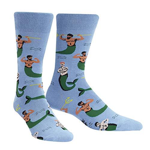 Sock It To Me - Herren Mermen - Motivsocken Meerman Neptun Merr Schwimmer Gr.42-47 One Size