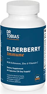 Dr. Tobias Elderberry Immune Supplement, Herbal Blend, 60 Capsules