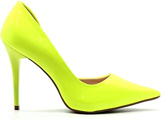 Scarpin Royalz Verniz Neon Abertura Interna Penélope Amarelo