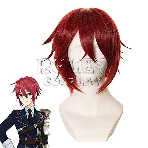 Anime Touken Ranbu Online Shinano Toushirou peluca roja disfraz de Cosplay pelo sintético para Halloween carnaval fiesta juego de rol Kuzz5093