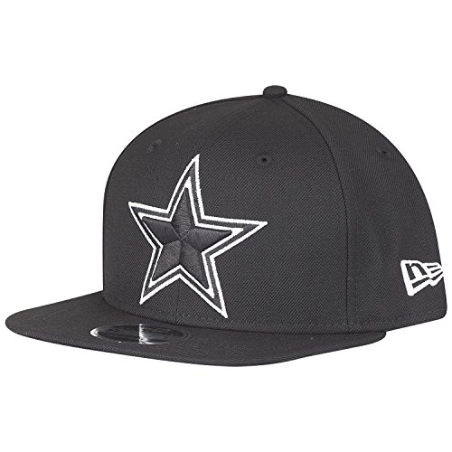 New Era NFL Dallas Cowboys Black White Logo Snapback Cap 9fifty Limited Edition