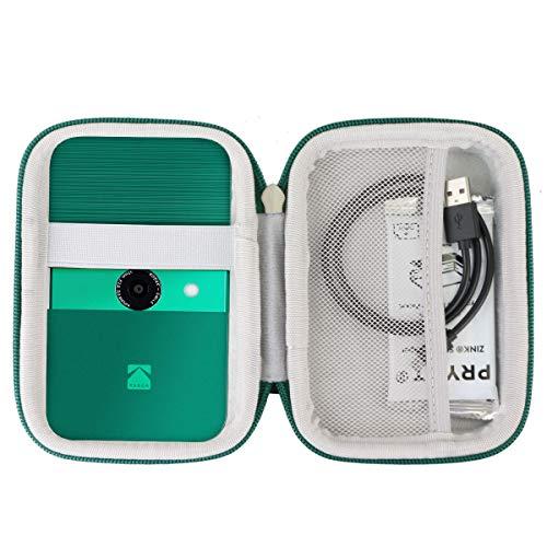 Khanka Hart Tasche Case für Kodak Smile Fotodrucker & Digital Sofortbildkamera Etui Schutzhülle.(Grüner Reißverschluss)