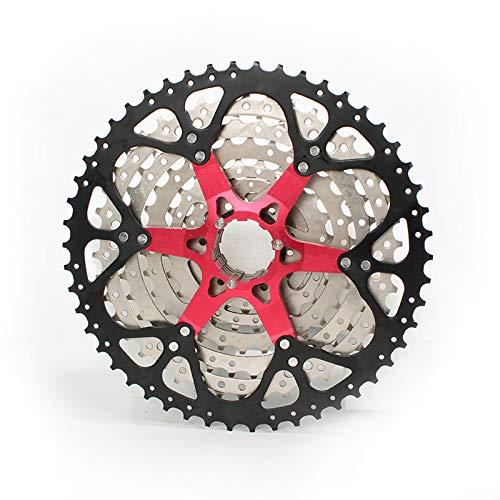 CLOUDH Cassette de Bicicleta de Montaña de 10 Velocidades 11-50T, Compatible con Bicicleta de Montaña, Bicicleta de Carretera, MTB, BMX, Shimano (M370 、 M390 、 M430 、 M2000) SRAM (X5 、 X7 、 X9)