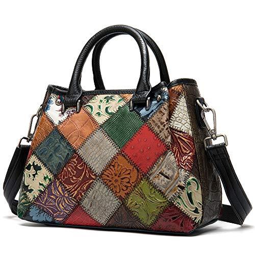 Women's Genuine Leather Handbag Large Bag Shoulder Bags Patchwork Designer Totes Bags Crossbody Bag