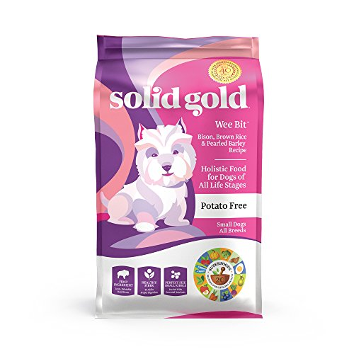 Solid Gold - Wee Bit With Real Bison, Brown Rice & Pearled Barley - Potato Free - Fiber Rich with...