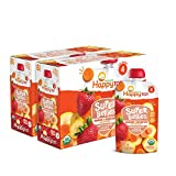 Happy Tot Organics Super Bellies Stage 4, Organics Banana, Carrot and Strawberry, 4 Ounce Pouch (Pack of 16)