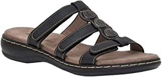 CUSHIONAIRE Women's Basil Sandal with +Comfort, Wide Widths Available