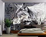 3D Mural American Wolf Sex Culture Brick Wall Tooling Background Brick Wall Papers Home decor-400X280CM