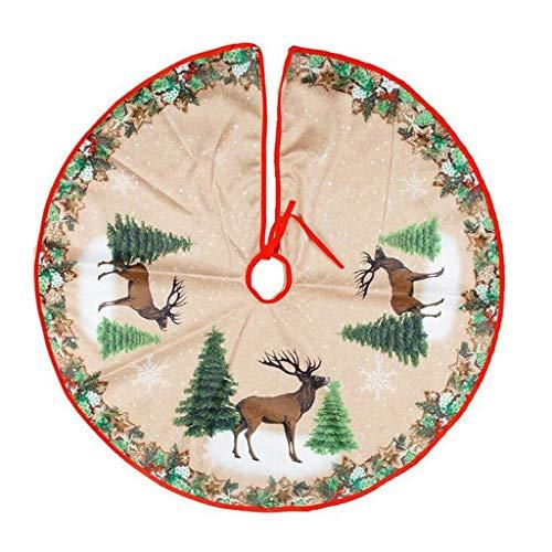 WXL Adorno para árbol de Navidad de 39 pulgadas de diámetro para decoración de la parte inferior del árbol de Navidad, pegatinas de tela no tejida, adornos navideños (color: C)