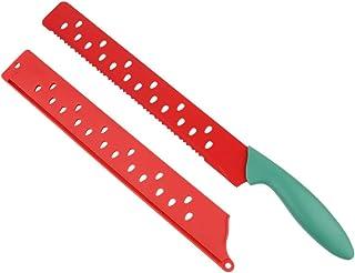 Hemoton Cuchillo de Pan de Acero Inoxidable Cuchillo de Sandía Cuchillo de Cocina Multifuncional para Cortar Pan Crujiente Bagel de Pastel