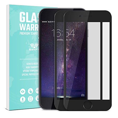 iPhone 7 Protector de Pantalla, SAVFY 2.5D Pantalla Completa Vidrio Templado Protector de Pantalla [3D Touch Compatible] para Apple iPhone 7 Blanco