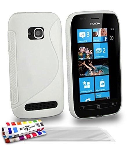 Muzzano F27S05-3461636 - Funda para Nokia Lumia 710, con 3 protectores de...