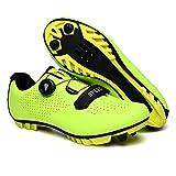 Zapatillas De Ciclismo, Zapatillas De Bicicleta De Montaña Transpirables Y Resistentes Al Viento para Adultos MTB, Zapatillas De Ciclismo con Plantillas Amortiguadoras (39,Verde)