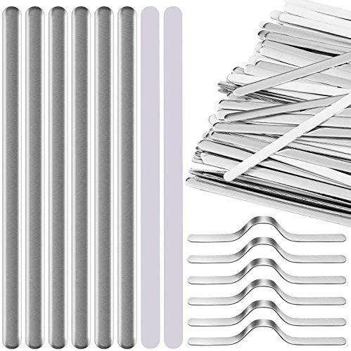 200 Stück Aluminium Nasenbrückenstreifen Selbstklebend Metall Flach Clips Halterung DIY Draht zum Nähen Handwerk