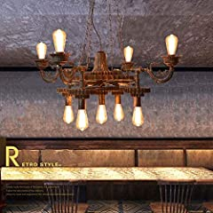 Our Retro Industrial Chandelier Can Be Integrated into Many Different Environments. It Can Be Used in the Kitchen, Living Room, Wine Cellar and Other Living Areas of the Home, or in Restaurants, Cafes, Clubs, Offices, Galleries, Bar Counters, Believe...