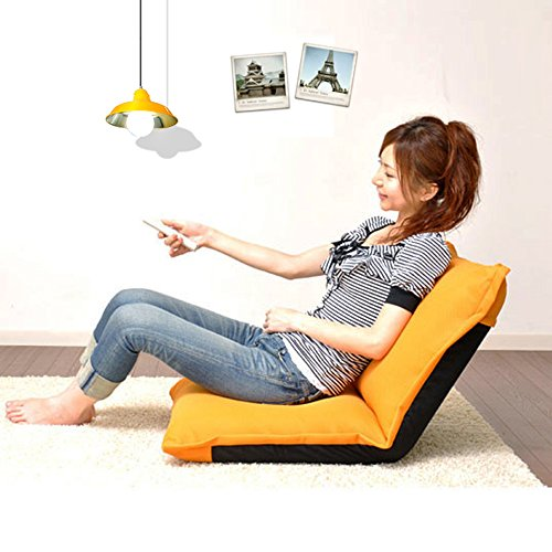 Tumbonas MAZHONG Lazy Sofa, Single Bed Lazy Couch Backrest Leisure Sofa Plegable Dormitorio Dormitory Chair (Color : Amarillo)