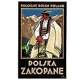 Polonia te invita a viajar Tour Retro Vintage cartel decorativo pared lienzo pintura hogar arte decoración del hogar regalo-20x30 pulgadas sin marco