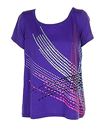Ideology Women's Heritage Graphic T-Shirt, Purple Pull up, XX-Large