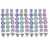 Dados Multifuncionales Starry Sky Multi-Faceted Board Game Dice Sieve Game Props Accesories Dados Set (10 Sets) Accesorios del Juego (Color : Color 1, Size : 20mm)