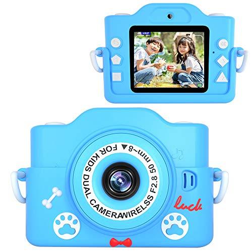 2021最新版子供カメラ 子ども用デジタルカメラ 7000万画素 8倍ズーム HD録画 タイマー撮影 自撮り機能 HD画質 操作簡単 32GBメモリーカード付き USB充電 子供プレゼント (dark_blue)