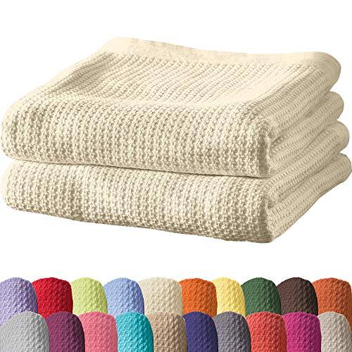 Erwin Müller Sommerdecke, Baumwolldecke - 2er-Pack - luftig-leicht, weiche Qualität, sehr angenehm - Natur Größe 150x200 cm - weitere Farben und Größen - 100% Baumwolle