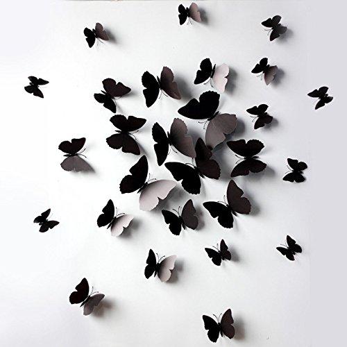 Gaoqi 12 Piezas 3D Pegatinas de Pared Mariposa imán de Nevera para decoración del hogar BK