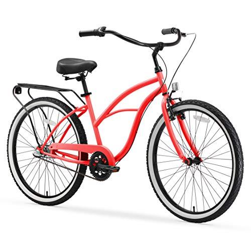 Discover Bargain sixthreezero Around The Block Women's 3-Speed Beach Cruiser Bicycle, 26 Wheels, Co...