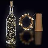Clenersa Tapón botella con luces led Guirnalda, Marrón, 1 un