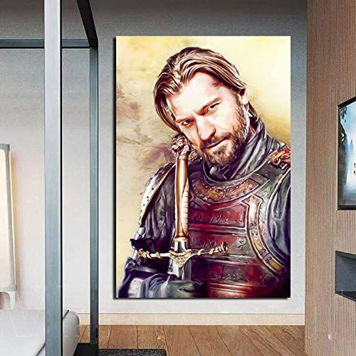 KWzEQ Klassische Charaktere Tapete Leinwand Wandkunst Poster drucken Moderne Wandbilder für Wohnzimmer Wohnkultur,Rahmenlose Malerei,50x75cm