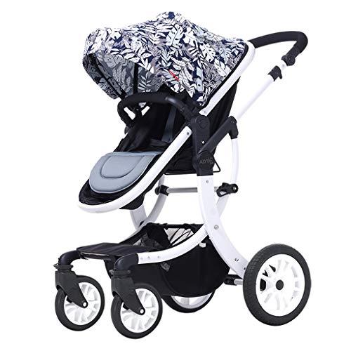 Gute Qualität Kinderwagen Buggys Leichter Zwei-Wege-Hochlandschafts-Kinderwagen mit verstellbarem Markisen-Sicherheitsgurt und faltbarem Bremspedal-Dämpfungsdesign Baby Standardkinderwagen