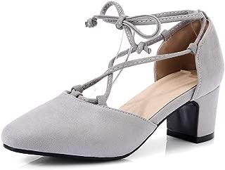 BalaMasa Womens ASL06079 Pu Block Heels