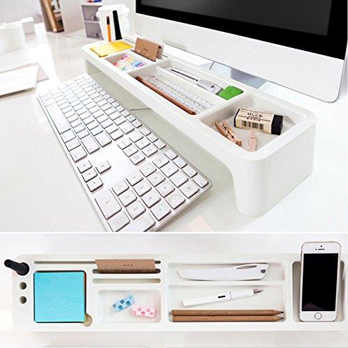 デスク 収納ケース Top Desk Organizer アイボリー Clean オフィス 家 机上用品・机上収納 Ivory 机の整理 Storage Case 42106 滑り止め、ゴム足