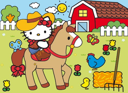Clementoni - 30pz Happy Color-Puzzle-Hello Kitty-Country 23618