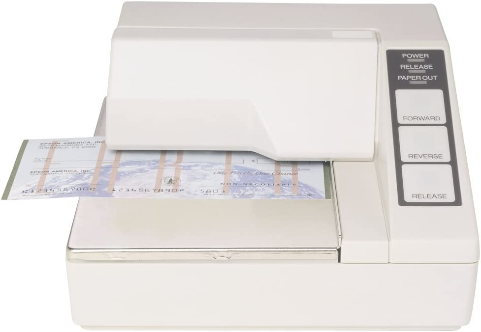 Epson TM-U295 Impact slip printer 2.1 lps serial interface (Cables and Power Supply not included) White C31C163272