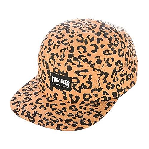 Thrasher Mag Logo 5 Panel Adjustable Hat, One Size, Cheetah Print