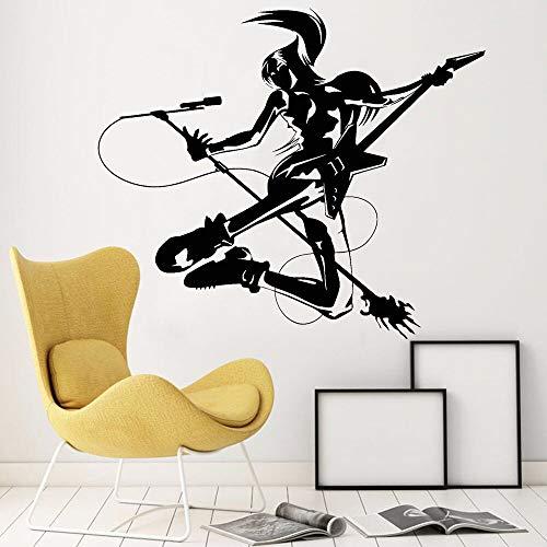 wZUN 2pcs Moderne Wanddekoration Musiker Rock Vinyl Abnehmbare Wandaufkleber Cool Art Deco 42X36cm