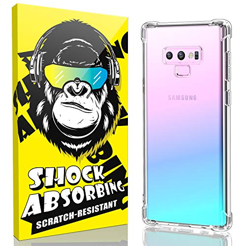iCaber Samsung Galaxy Note 9 Case, Soft & Flexible TPU [Scratch-Resistant],4 Corners Bumpers Protection Designed [Shock-Absorbing] Crystal Clear Case for Samsung Galaxy Note 9 6.4 Inch