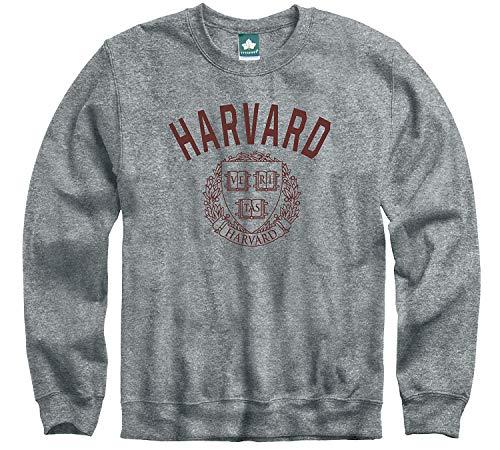 Ivysport Harvard University Crimson Crewneck Sweatshirt, Legacy, Charcoal Grey, Medium
