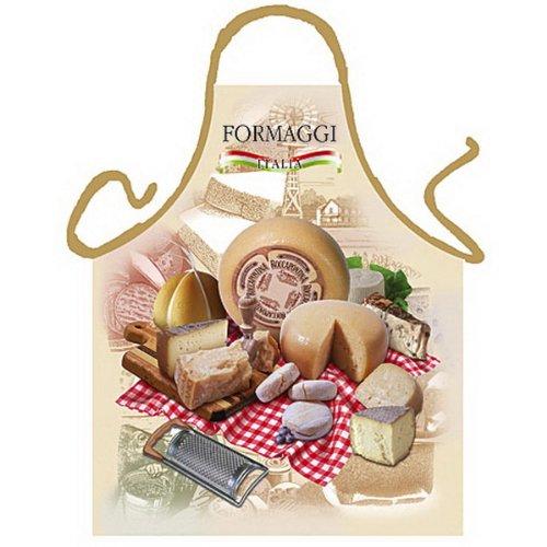 Grillschürze - Kochschürze - Italienischer Käse - Lustige Motiv Schürze als Geschenk für Grill Fans mit Humor