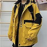 Harajuku Chaqueta de Carga Coreana de Invierno Mujeres Vintage Causal Causal Abrigo 2020 Letra Hit Color Color Safari Estilo Chaquetas