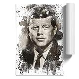 BIG Box Kunst-Poster John F Kennedy JFK President V3 - Home