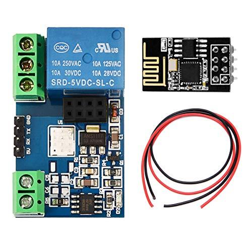 Youmile ESP8266 Modulo relè 5V WIFI per sistema di automazione domestica intelligente Arduino con scheda ricetrasmettitore wireless ESP-01, cavo 24AWG