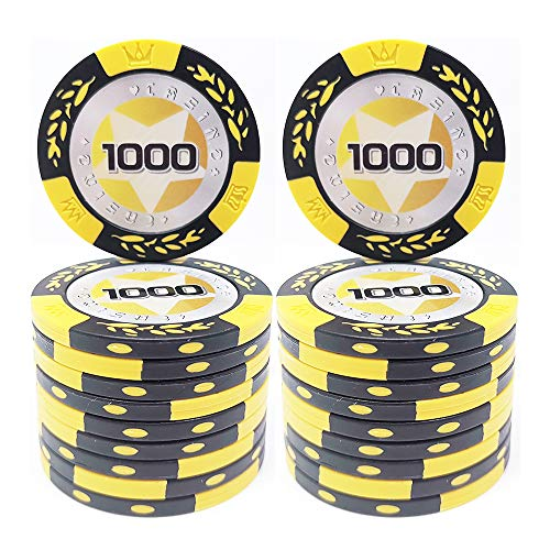 COSDDI 20 Piezas Fichas de Póker Casino Club Fichas de Pó