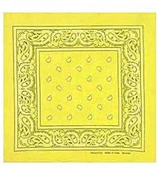 Yellow Paisley Cotton Bandanna